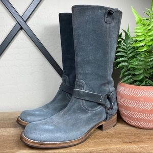 Brunello Cucinelli Suede Western Style Riding Boot